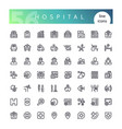 hospital line icons set vector image vector image