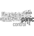 how to control panic attacks vector image vector image