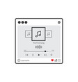 isolated audio streaming player user interface vector image