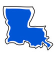 isolated map of the state of louisiana vector image