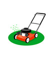 lawn mower isolated on white background vector image vector image