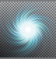 lightning vortex effect background with shiny vector image vector image