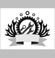 logo or emblem for car service and garage high vector image vector image