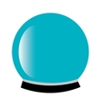 Magic crystal ball icon vector image