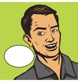 Man talks pop art style vector image vector image