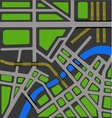 map of city vector image vector image