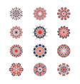 mehendi and arabic circular patterns geometric vector image vector image