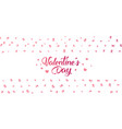 modern flyer with happy valentines day text vector image vector image