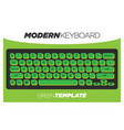 modern lime green qwerty key board element vector image