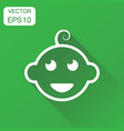 newborn baby face icon business concept little vector image