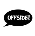 offside stamp on white vector image vector image