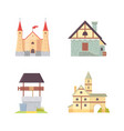 old castle europe palace building vector image vector image