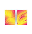 orange light mode background vector image vector image