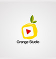 orange studio logo icon element and template vector image vector image