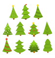 Pine Tree Set vector image vector image