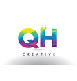 qh g h colorful letter origami triangles design vector image vector image