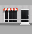 realistic 3d detailed store building facade vector image vector image