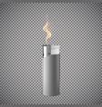 realistic cigarette lighter vector image