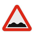 rough road icon flat style vector image