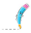 sad pencil vector image vector image