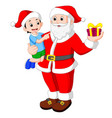 santa claus with kids vector image vector image