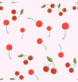 seamless pattern with cherry berries cherry vector image vector image
