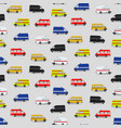 seamless pattern with minibuses vector image