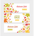 set of autumn horizontal web banner templates with vector image vector image