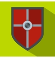 Shield for fight icon flat style vector image vector image