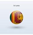 Sri Lanka round flag vector image
