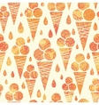 Summer ice cream cones seamless pattern background vector image vector image
