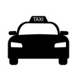 taxi car car automobile simple black and white vector image