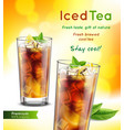 tea realistic advertisement vector image vector image