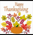 thanksgiving day on a white background with autumn vector image