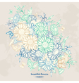 Vintage floral background with chamomile flowers a vector image vector image