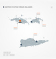 virgin islands infographic map vector image