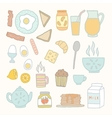 Breakfast food and drink vector image
