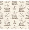 Sailship and Anchor Seamless pattern vector image