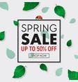 spring sale background banner with frame vector image