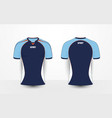 blue white and orange sport football kits t-shirt vector image