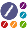 yardstick icons set