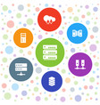 7 database icons vector image vector image
