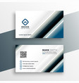abstract business card template in line style vector image vector image