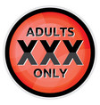 adults only sign vector image vector image