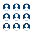 app or profile user icon set set of men avatar vector image