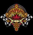 balinese rangda mask design vector image vector image