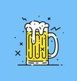 beer glass mug icon vector image vector image