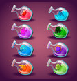 big set with different magic elixir vector image vector image
