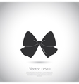 Black bow logo or icon vector image vector image