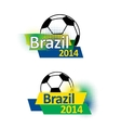 Brazil 2014 soccer banners vector image vector image